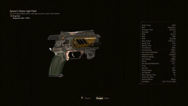 the outer worlds light pistol mk2