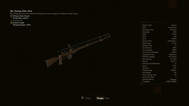 the outer worlds hunting rifle