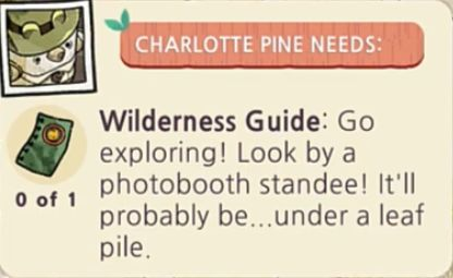 Wilderness Guide Location Hint