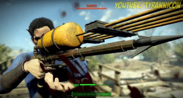fallout 4 secret weapon harpoon gun