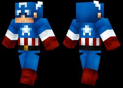 captain america skin for minecraft