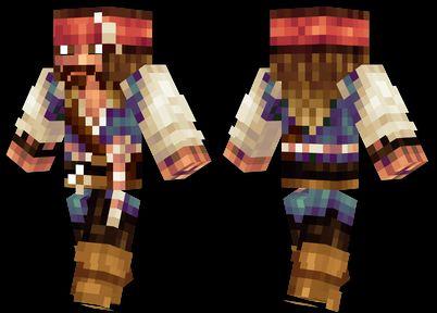 captain jack sparrow minecraft skin